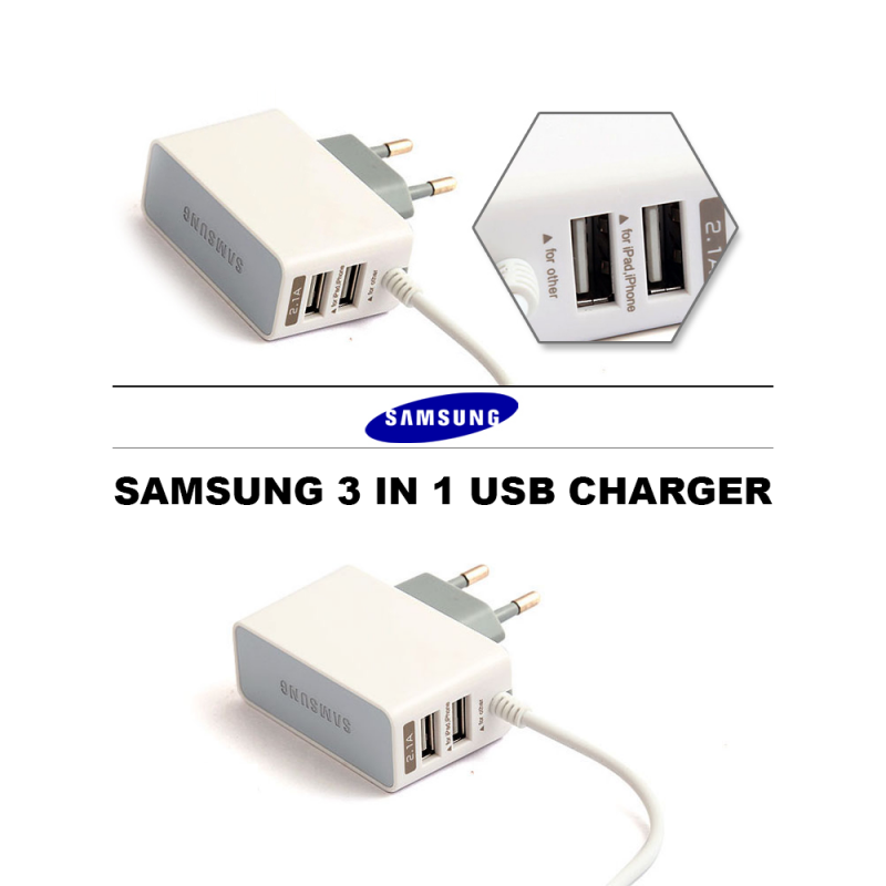 Samsung USB Charger 3 in 1 White