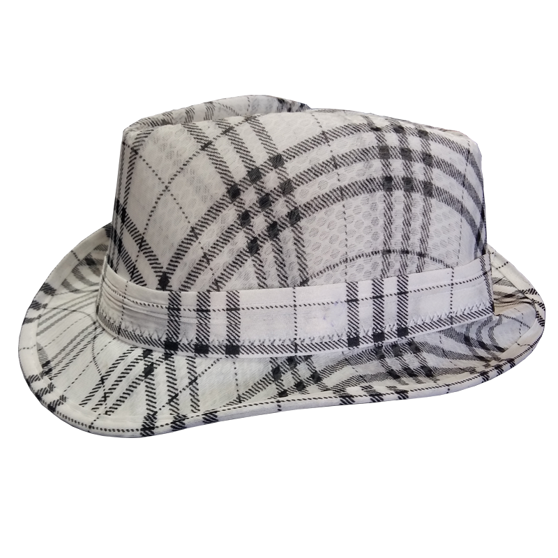 Stripes Design Cotton Stylish Hat - White