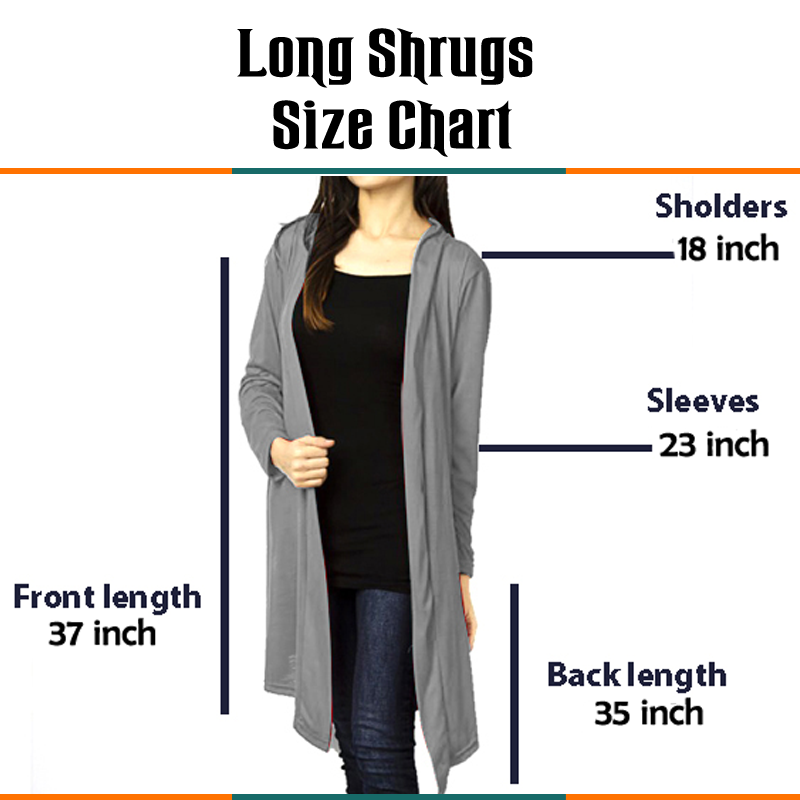 Pack Of 5 New and Stylish Shrugs - (Colors Choice)