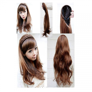 Natural Brown Straight Hair Extensions For Women