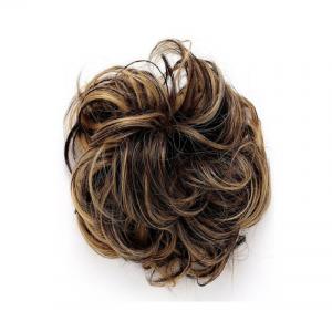 Golden Synthetic Hair Bun Extensions