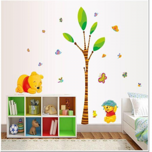 Animals Zoo Cartoon Wall Stickers - Winnie Pooh Wall Stickers For Kids