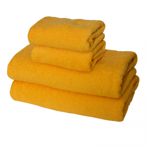 Yellow Colors Bath Towels Set (Pack Of 4)