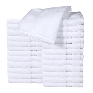 Cotton White Washcloth Towel Set (Pack of 24)