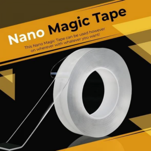 Nano PU Gel Double-Sided Traceless Transparent Adhesive Tape (24mm By 5 meter)